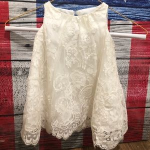David's Bridal Flower Girl Wedding Lace Dress 2T